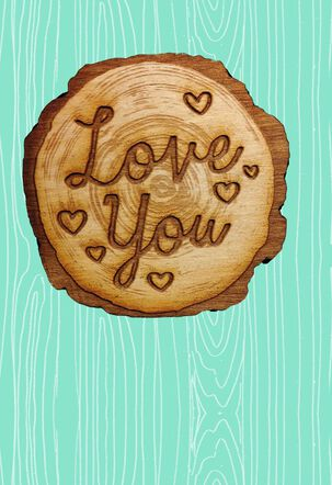 Rustic Wood Carving Mother's Day Card
