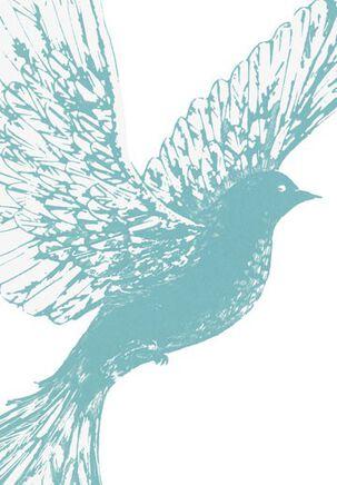 Dove in Flight Sympathy Card