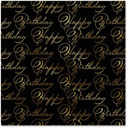 Cursive Happy Birthday Wrapping Paper Roll, 22.5 sq. ft., , large
