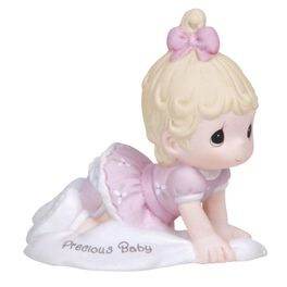 Precious Moments® Growing in Grace Blonde Hair Baby Girl  Crawling  Figurine, Age 1, , large