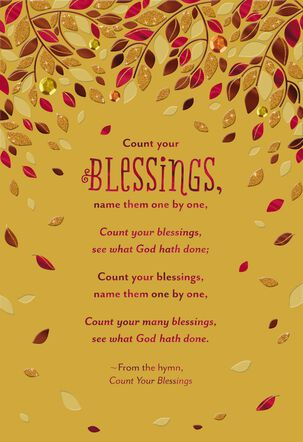 Count Your Blessings Religious Thanksgiving Card