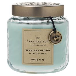 Crafters & Co. Seaglass Orchid Candle, 16-oz, , large