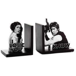Star Wars™ Han Solo™ and Princess Leia™ Bookends, Set of 2, , large