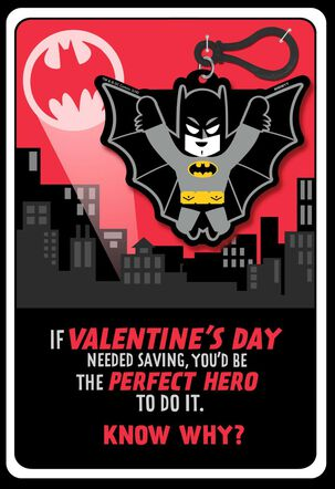 Batman™ Valentine's Day Card With Backpack Clip