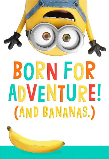 Despicable Me Minion Born For Adventure Birthday Card Greeting