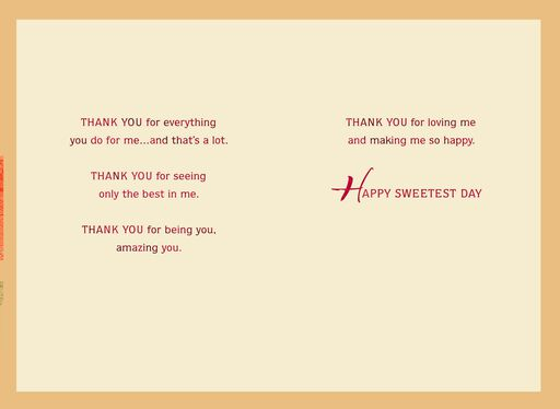 Thank You for Being You Sweetest Day Card for Wife,