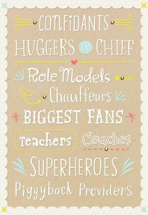 Huggers, Fans, Superheroes and Daddies! Baby Card