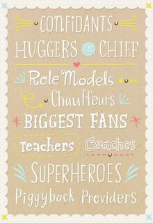 Huggers, Fans, Superheroes and Daddies! Baby Card,