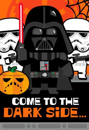 Star Wars™ Candy on the Dark Side Musical Halloween Card