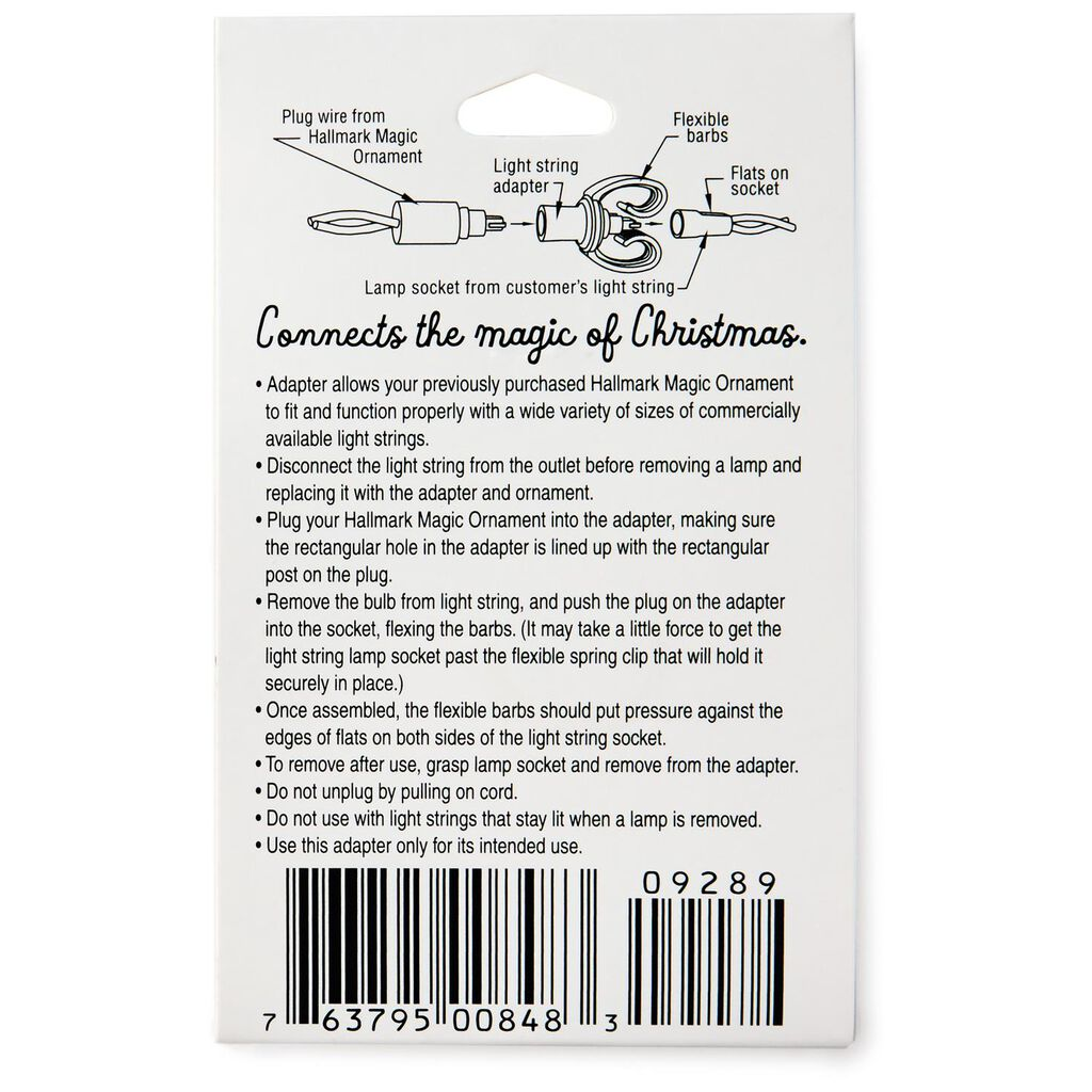 Light String Adapter Keepsake Ornament Accessory Are Christmas Lights In Series Or Parallel Wired