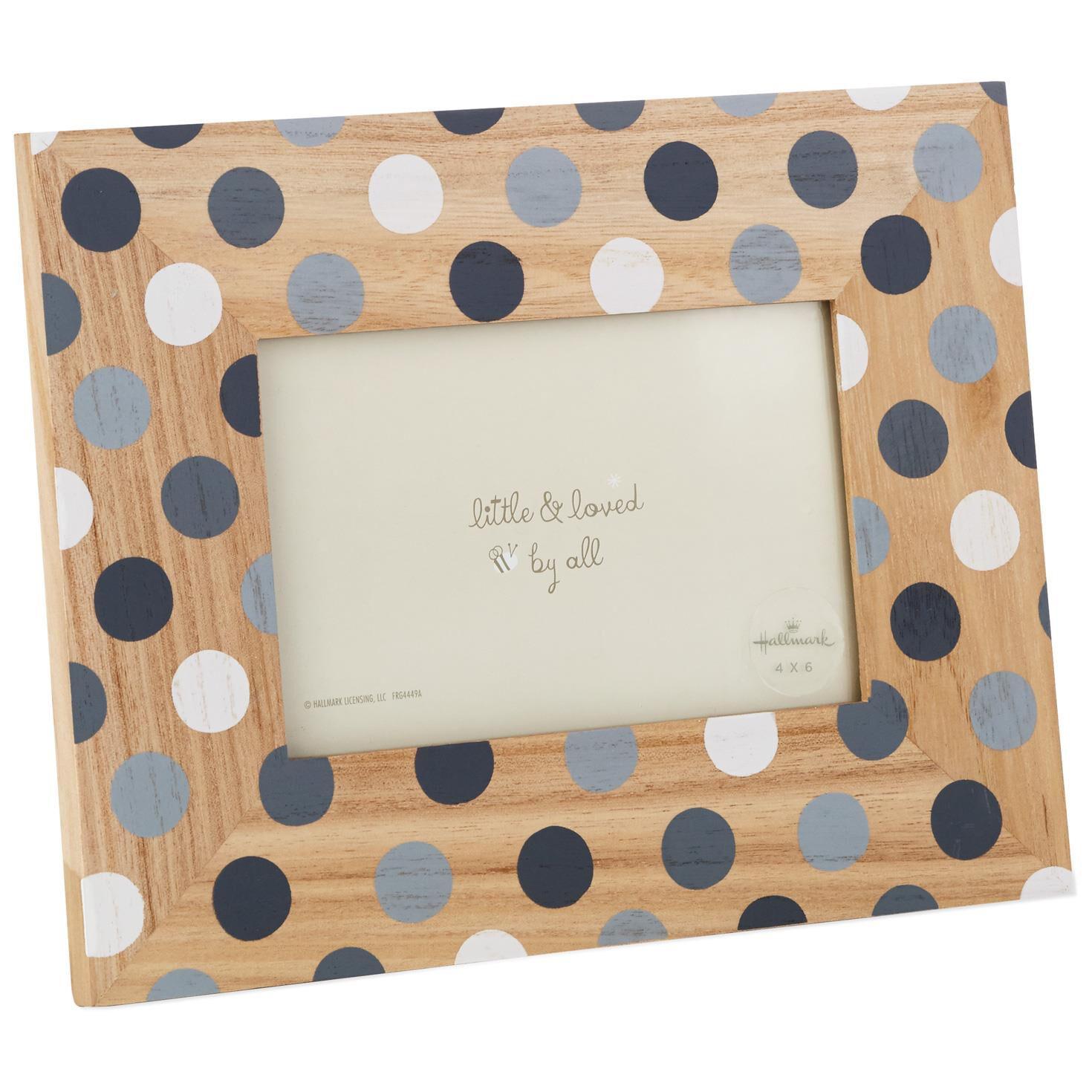 Grey Polka Dot Picture Frame, 4x6 - Picture Frames - Hallmark