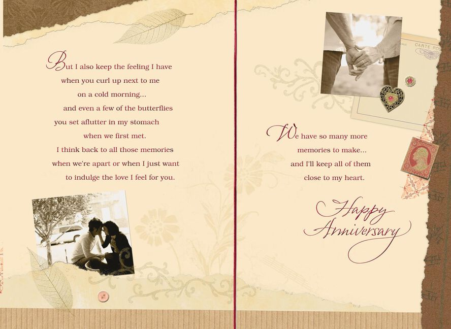 Scrapbook Of Memories Anniversary Card For Husband Greeting Cards