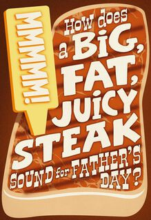 Funny Steak Jokes Father's Day Card,