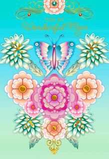 Catalina Estrada Butterfly and Flowers Mother's Day Card,