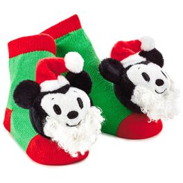Mickey Mouse Christmas itty bittys® Baby Rattle Socks, , large