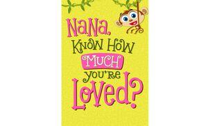 Monkey Happy Birthday Card for Nana