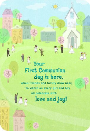 God's Blessings First Communion Card