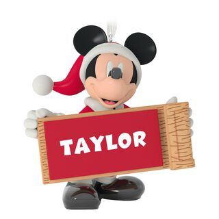 Mickey Mouse with Sled Personalized Ornament,