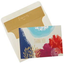 Painted Flowers Thank You Notes, Box of 10, , large