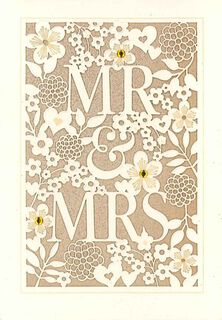 Laser-Cut Floral Wedding Card,