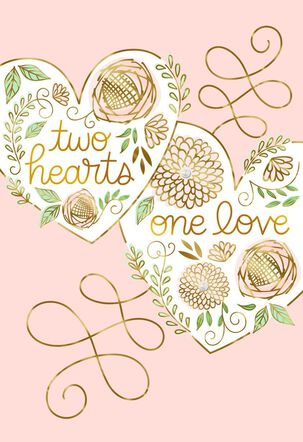 Two Hearts, One Love Wedding Card
