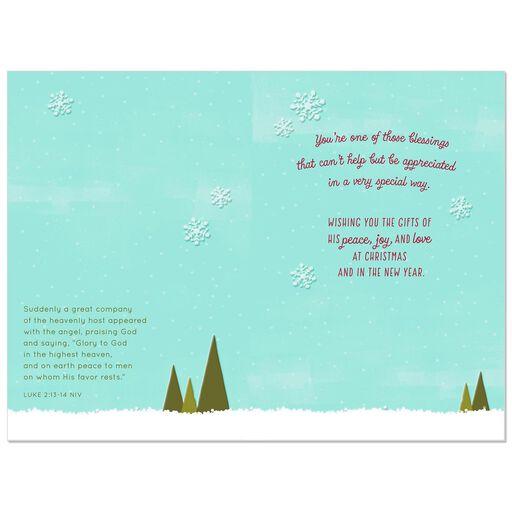 fox and snow globe religious christmas card