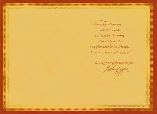 Everything Good Thanksgiving Card for Both,