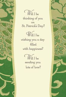Thinking of You St. Patrick's Day Card,