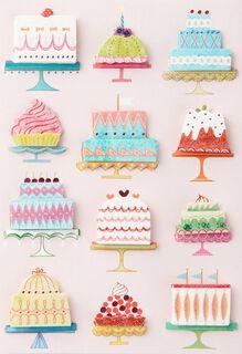 A Dozen Cakes Birthday Card,
