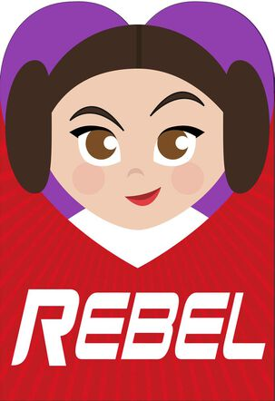 Star Wars™ Princess Leia™ Valentine's Day Card for Niece