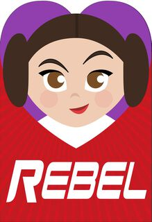 Star Wars™ Princess Leia™ Valentine's Day Card for Niece,