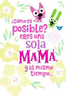 Marvelous! hoops&yoyo™ Musical Spanish-Language Mother's Day Card,