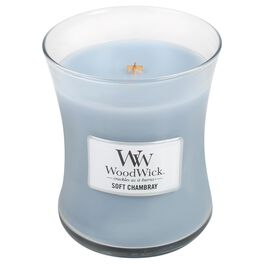 WoodWick® Soft Chambray Medium Candle, 10 oz, , large