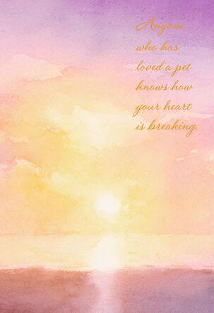 Watercolor Sunset Loss of Pet Card