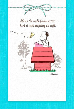 Peanuts® Snoopy World-Famous Writer Friendship Card