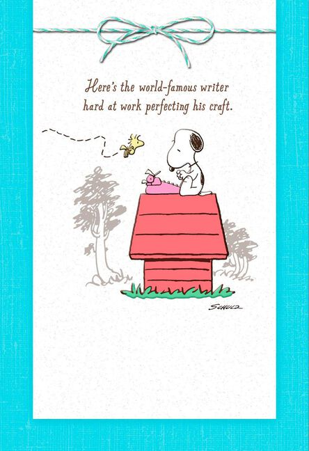 Peanuts snoopy world famous writer friendship card greeting cards peanuts snoopy world famous writer friendship card m4hsunfo