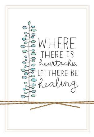 Healing Heart Sympathy Card