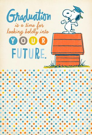 Peanuts® Snoopy Your Bright Future Graduation Card