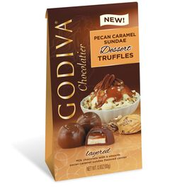 Godiva Chocolatier Individually Wrapped Pecan Caramel Sundae Dessert Truffles, , large