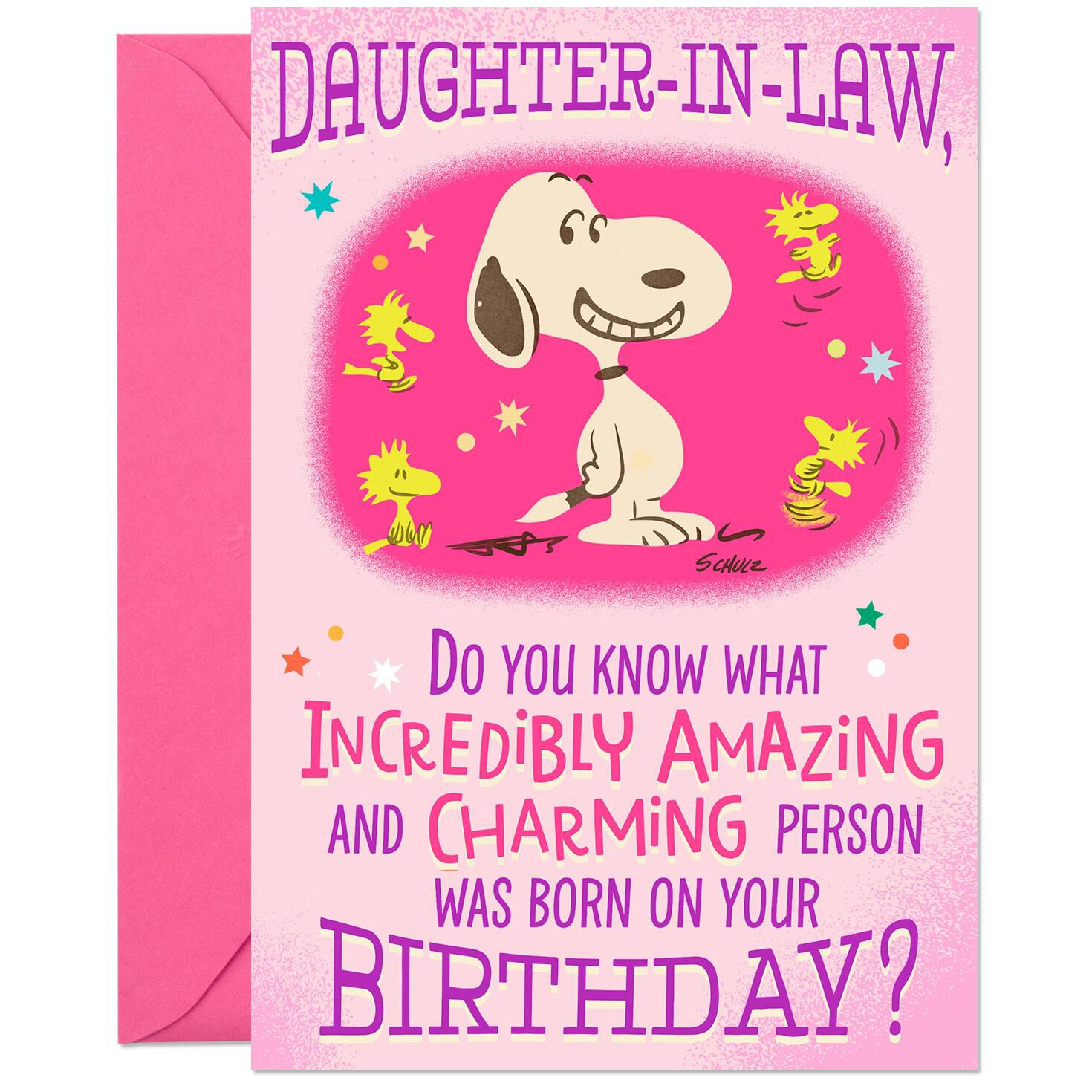 Peanuts Snoopy And Woodstock Pop Up Birthday Card For Daughter In
