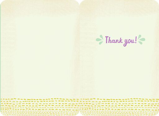 Colorful Letters Simply Said Thank You Card,