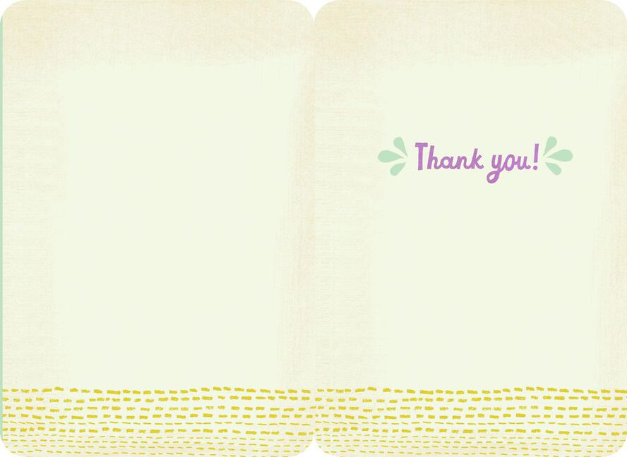 Colorful letters simply said thank you card greeting cards hallmark colorful letters simply said thank you card expocarfo Images