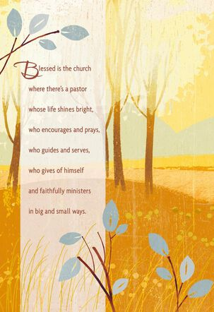 Thank the Lord for You Pastor Clergy Appreciation Card