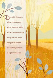 Thank the Lord for You Pastor Clergy Appreciation Card,