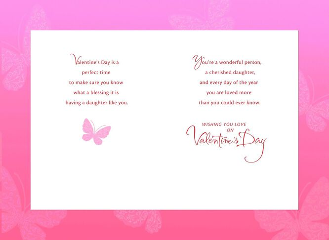 butterfly for daughter valentines day card