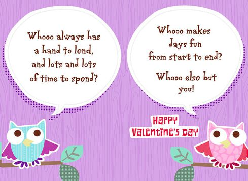 Owl for Teacher Valentines Day Card Greeting Cards Hallmark – Owl Valentines Day Cards