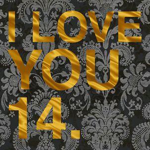 I Love You 14 Love Card