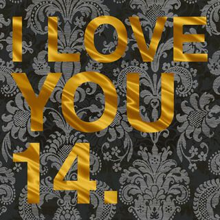 I Love You 14 Love Card,