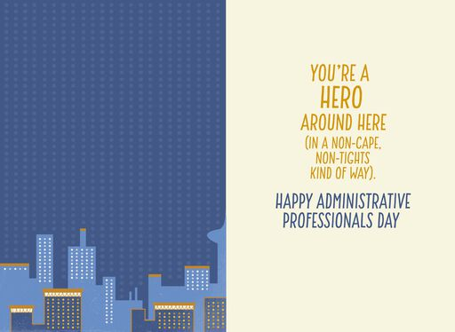 Superhero Thanks Administrative Professionals Day Card,