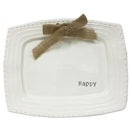 Mud Pie® Happy Serving Platter, , large